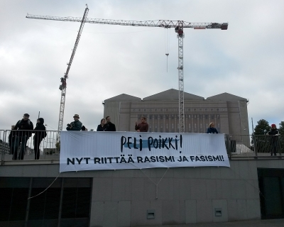 """Game over"" – a big anti-racism and ""anti-fascism"" protest in Helsinki, Finland"