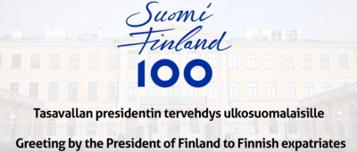 Greeting from President of the Republic of Finland Sauli Niinistö to Finnish expatriate communities